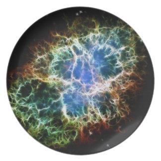 Crab nebula plate