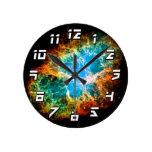 Crab Nebula Round Clock