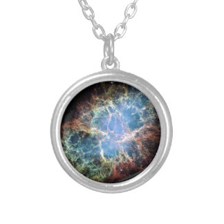 Crab Nebula Silver Plated Necklace