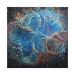 Crab Nebula Space Art Canvas Print