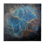 Crab Nebula Space Art Tile