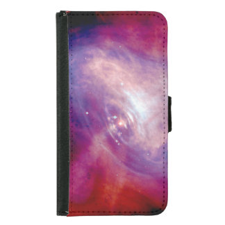 Crab Nebula Space Astronomy NASA Wallet Phone Case For Samsung Galaxy S5