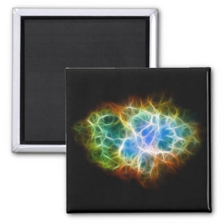 Crab Nebula Star Space Cloud 2 Inch Square Magnet