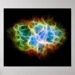 Crab Nebula Star Space Cloud Poster