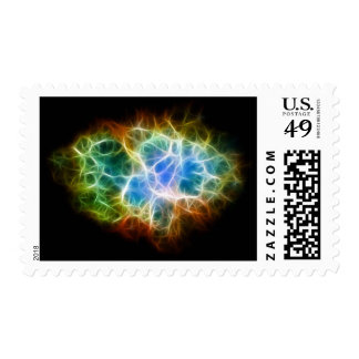 Crab Nebula Star Space Cloud Stamp