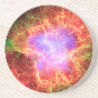 Crab Nebula Superdense Neutron Star Beverage Coasters