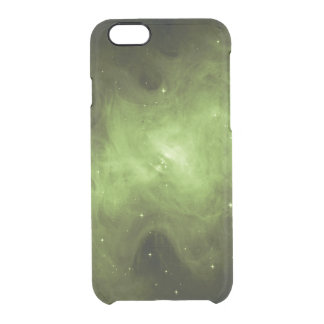 Crab Nebula, Supernova Remnant, Green Light Clear iPhone 6/6S Case