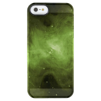 Crab Nebula, Supernova Remnant, Green Light Clear iPhone SE/5/5s Case