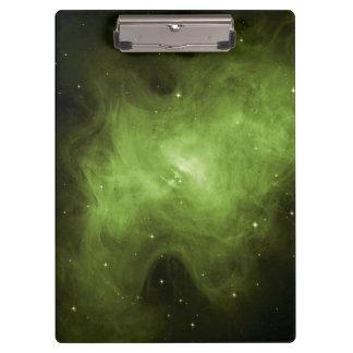 Crab Nebula, Supernova Remnant, Green Light Clipboard