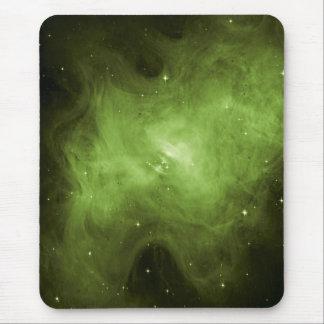 Crab Nebula, Supernova Remnant, Green Light Mouse Pad