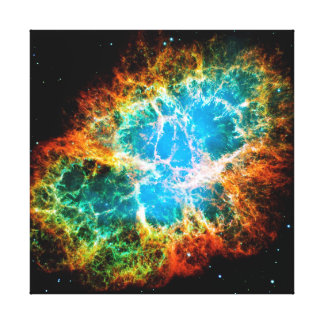 Crab Nebula Supernova Remnant Hubble Space Photo Canvas Print