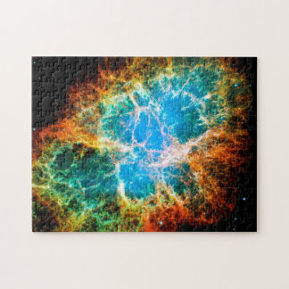 Crab Nebula Supernova Remnant Hubble Space Photo Jigsaw Puzzle