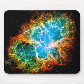 Crab Nebula Supernova Remnant Hubble Space Photo Mouse Pad