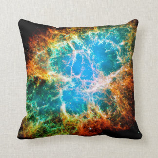 Crab Nebula Supernova Remnant Hubble Space Photo Throw Pillow