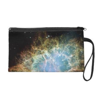 Crab Nebula Wristlet Clutch Bag