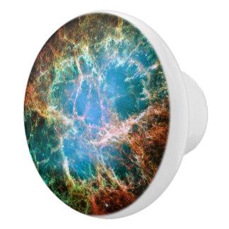 Crab Nebulae Space Astronomy Science Photo Ceramic Knob