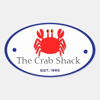 Crab Oval Sticker