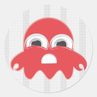 Crab PackMan Ghost Sticker