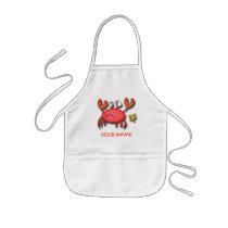 Crab Paint Smock! Kids' Apron