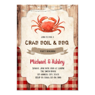picture relating to Crawfish Boil Invitations Free Printable named Crab bash invitation