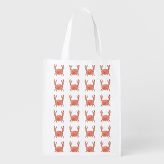 Crab Pattern Reusable Grocery Bag