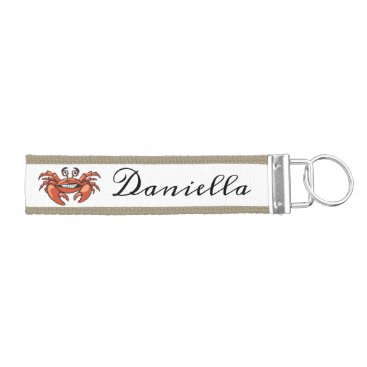 Crab personalized keychain