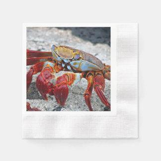 Crab photo paper napkin