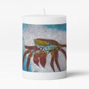 Crab Pillar Candle