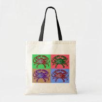 Crab Pop Art Tote Bag