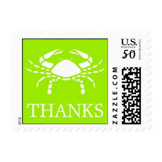 Crab Postage Stamp (Thanks Lime Green)