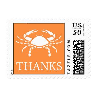 Crab Postage Stamp (Thanks Orange)