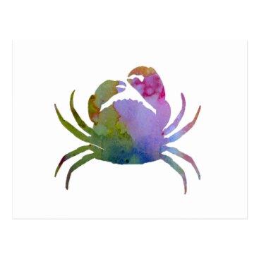 Beach Themed Crab Postcard