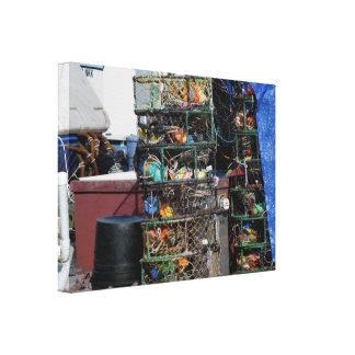 Crab Pots Canvas Prints