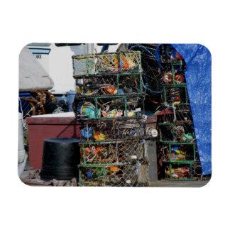 Crab Pots Rectangular Photo Magnet
