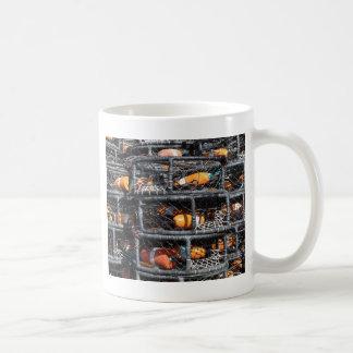 Crab Pots Stacked for Fishing Coffee Mug
