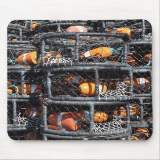 Crab Pots Stacked for Fishing Mouse Pad