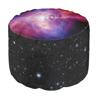 Crab Pulsar Neutron Star telescope astronomy image Round Pouf