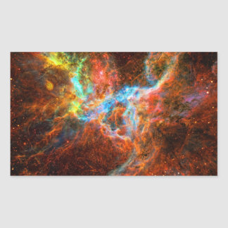 Crab Pulsar Time Lapse - Neutron Star Rectangular Sticker