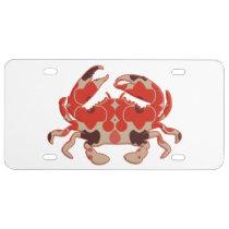 Crab - retro license plate