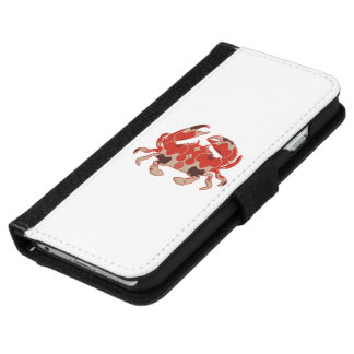 Crab - retro iPhone 6 wallet case