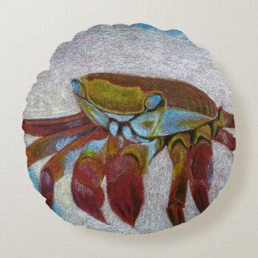 Crab Round Pillow