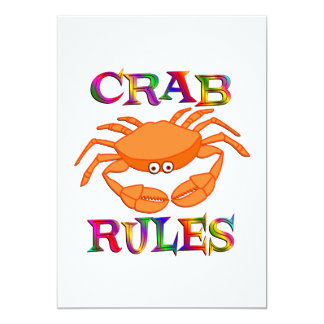 Crab Rules Personalized Invites