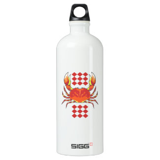 CRAB SEAFOOD ALUMINUM WATER BOTTLE