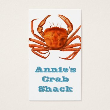Professional Business Crab Shack Business Card - Red Crab