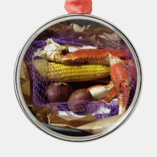 Crab Shack Feast Metal Ornament