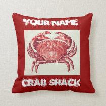 crab shack pillow