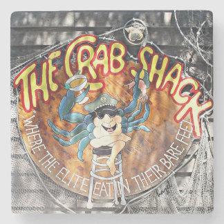 Crab Shack Tybee Marble Stone Coaster. Stone Coaster