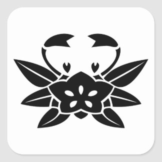 Crab-shaped gentian stickers