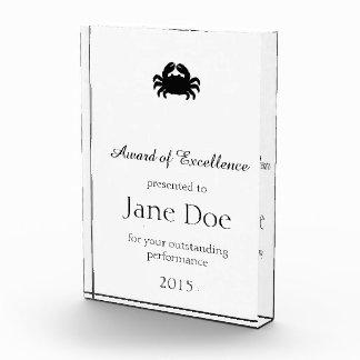Crab Silhouette - Black Award