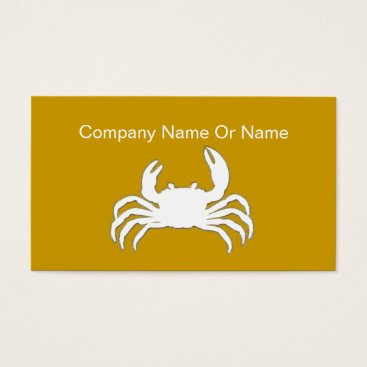 Professional Business Crab Silhouette Business Cards
